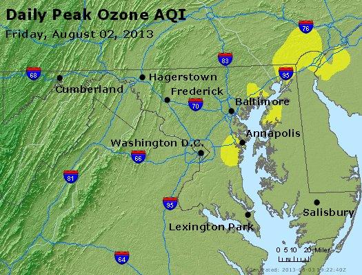 Peak Ozone (8-hour) - http://files.airnowtech.org/airnow/2013/20130802/peak_o3_maryland.jpg
