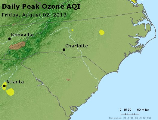 Peak Ozone (8-hour) - http://files.airnowtech.org/airnow/2013/20130802/peak_o3_nc_sc.jpg