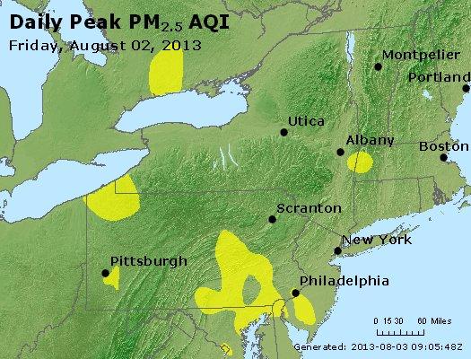 Peak Particles PM<sub>2.5</sub> (24-hour) - http://files.airnowtech.org/airnow/2013/20130802/peak_pm25_ny_pa_nj.jpg