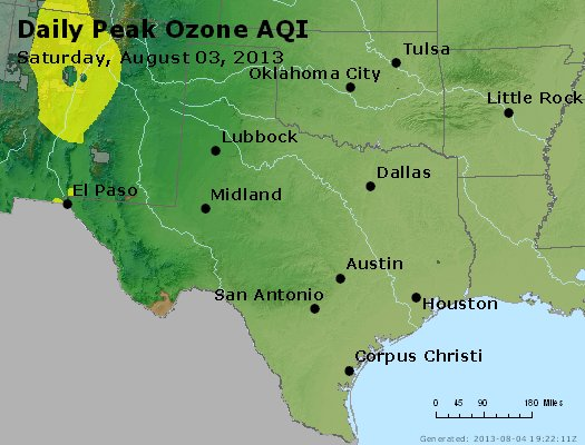 Peak Ozone (8-hour) - http://files.airnowtech.org/airnow/2013/20130803/peak_o3_tx_ok.jpg