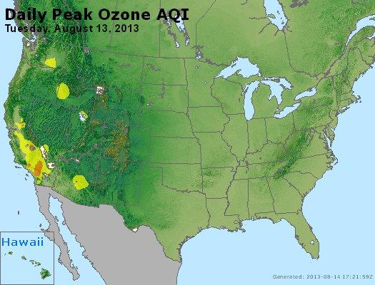 Peak Ozone (8-hour) - http://files.airnowtech.org/airnow/2013/20130813/peak_o3_usa.jpg