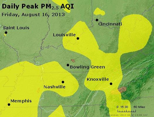 Peak Particles PM<sub>2.5</sub> (24-hour) - http://files.airnowtech.org/airnow/2013/20130816/peak_pm25_ky_tn.jpg