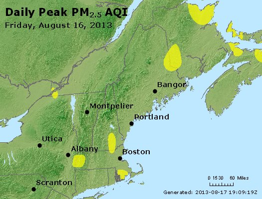 Peak Particles PM<sub>2.5</sub> (24-hour) - http://files.airnowtech.org/airnow/2013/20130816/peak_pm25_vt_nh_ma_ct_ri_me.jpg