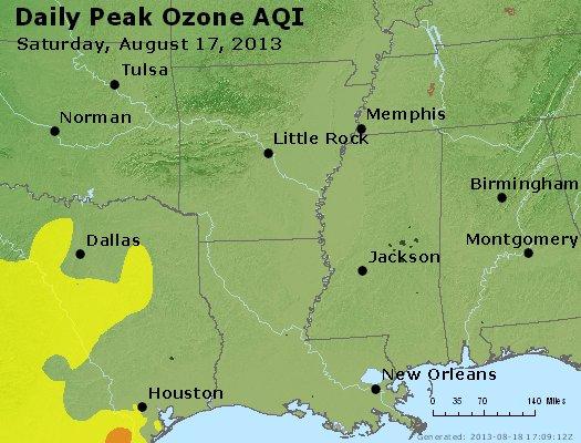 Peak Ozone (8-hour) - http://files.airnowtech.org/airnow/2013/20130817/peak_o3_ar_la_ms.jpg