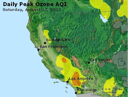 Peak Ozone (8-hour) - http://files.airnowtech.org/airnow/2013/20130817/peak_o3_ca_nv.jpg