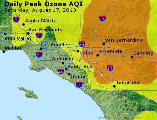 Peak Ozone (8-hour) - http://files.airnowtech.org/airnow/2013/20130817/peak_o3_losangeles_ca.jpg
