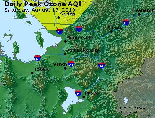 Peak Ozone (8-hour) - http://files.airnowtech.org/airnow/2013/20130817/peak_o3_saltlakecity_ut.jpg