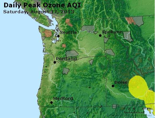 Peak Ozone (8-hour) - http://files.airnowtech.org/airnow/2013/20130817/peak_o3_wa_or.jpg