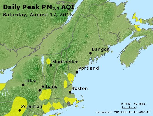 Peak Particles PM<sub>2.5</sub> (24-hour) - http://files.airnowtech.org/airnow/2013/20130817/peak_pm25_vt_nh_ma_ct_ri_me.jpg
