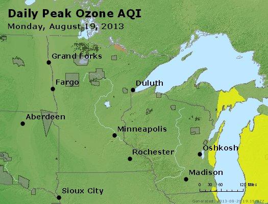 Peak Ozone (8-hour) - http://files.airnowtech.org/airnow/2013/20130819/peak_o3_mn_wi.jpg