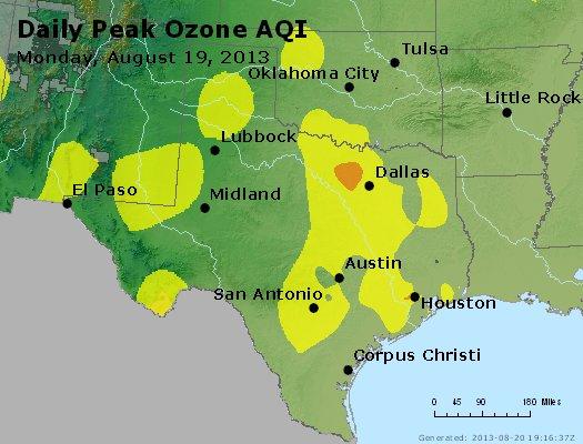 Peak Ozone (8-hour) - http://files.airnowtech.org/airnow/2013/20130819/peak_o3_tx_ok.jpg