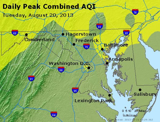 Peak AQI - http://files.airnowtech.org/airnow/2013/20130820/peak_aqi_maryland.jpg