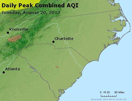 Peak AQI - http://files.airnowtech.org/airnow/2013/20130820/peak_aqi_nc_sc.jpg