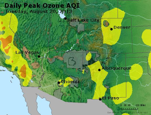 Peak Ozone (8-hour) - http://files.airnowtech.org/airnow/2013/20130820/peak_o3_co_ut_az_nm.jpg