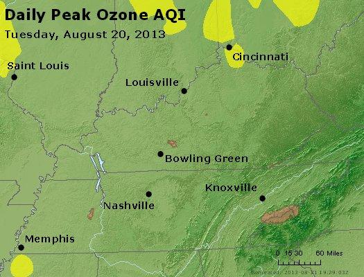 Peak Ozone (8-hour) - http://files.airnowtech.org/airnow/2013/20130820/peak_o3_ky_tn.jpg