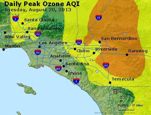 Peak Ozone (8-hour) - http://files.airnowtech.org/airnow/2013/20130820/peak_o3_losangeles_ca.jpg