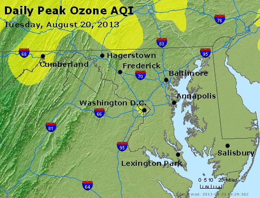 Peak Ozone (8-hour) - http://files.airnowtech.org/airnow/2013/20130820/peak_o3_maryland.jpg