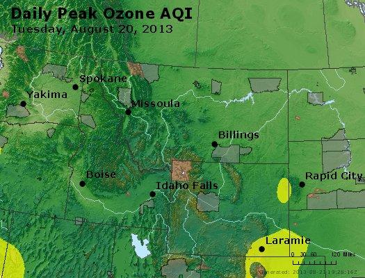 Peak Ozone (8-hour) - http://files.airnowtech.org/airnow/2013/20130820/peak_o3_mt_id_wy.jpg