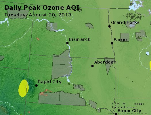Peak Ozone (8-hour) - http://files.airnowtech.org/airnow/2013/20130820/peak_o3_nd_sd.jpg