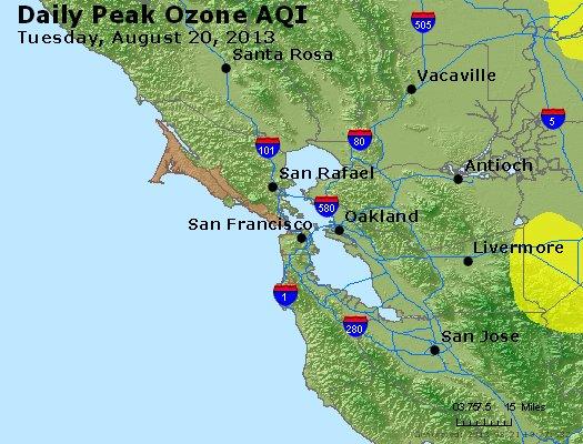Peak Ozone (8-hour) - http://files.airnowtech.org/airnow/2013/20130820/peak_o3_sanfrancisco_ca.jpg
