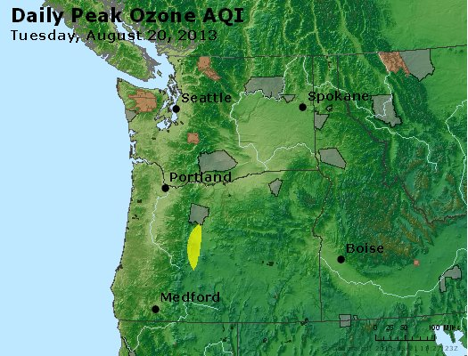 Peak Ozone (8-hour) - http://files.airnowtech.org/airnow/2013/20130820/peak_o3_wa_or.jpg