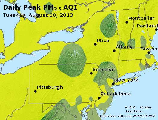 Peak Particles PM<sub>2.5</sub> (24-hour) - http://files.airnowtech.org/airnow/2013/20130820/peak_pm25_ny_pa_nj.jpg