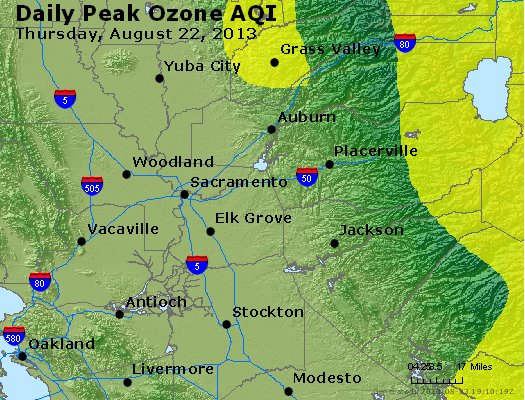 Peak Ozone (8-hour) - http://files.airnowtech.org/airnow/2013/20130822/peak_o3_sacramento_ca.jpg