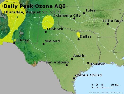Peak Ozone (8-hour) - http://files.airnowtech.org/airnow/2013/20130822/peak_o3_tx_ok.jpg