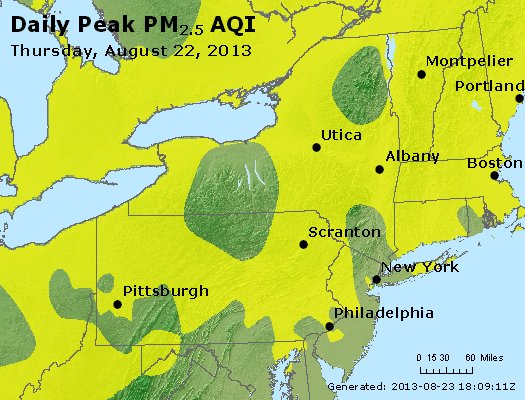 Peak Particles PM<sub>2.5</sub> (24-hour) - http://files.airnowtech.org/airnow/2013/20130822/peak_pm25_ny_pa_nj.jpg