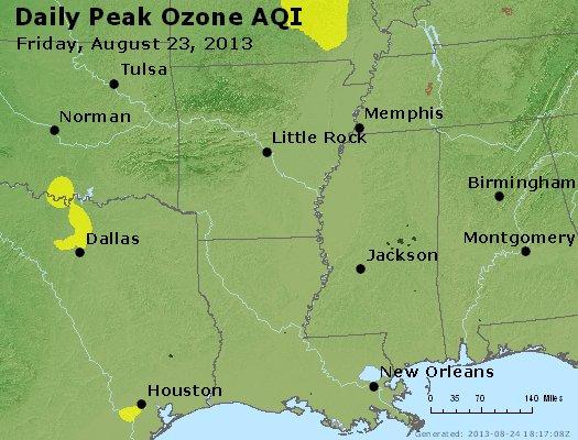 Peak Ozone (8-hour) - http://files.airnowtech.org/airnow/2013/20130823/peak_o3_ar_la_ms.jpg