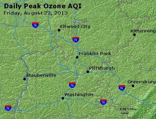 Peak Ozone (8-hour) - http://files.airnowtech.org/airnow/2013/20130823/peak_o3_pittsburgh_pa.jpg