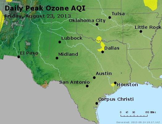 Peak Ozone (8-hour) - http://files.airnowtech.org/airnow/2013/20130823/peak_o3_tx_ok.jpg