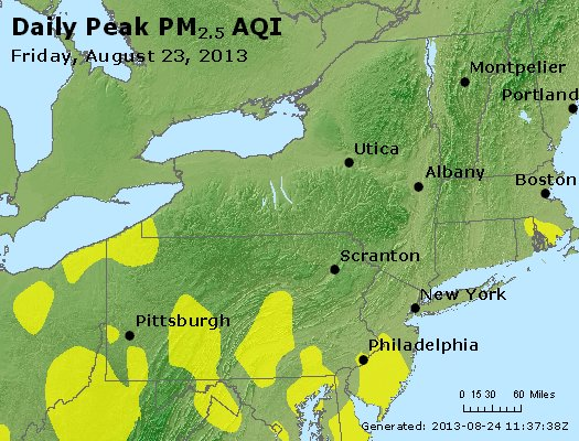 Peak Particles PM<sub>2.5</sub> (24-hour) - http://files.airnowtech.org/airnow/2013/20130823/peak_pm25_ny_pa_nj.jpg