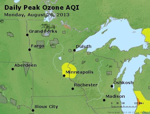 Peak Ozone (8-hour) - http://files.airnowtech.org/airnow/2013/20130826/peak_o3_mn_wi.jpg