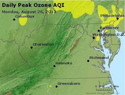 Peak Ozone (8-hour) - http://files.airnowtech.org/airnow/2013/20130826/peak_o3_va_wv_md_de_dc.jpg