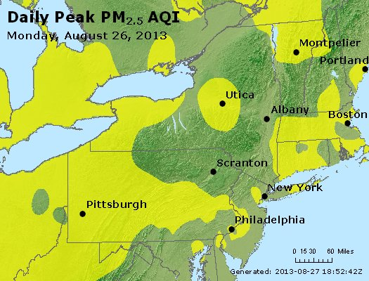 Peak Particles PM<sub>2.5</sub> (24-hour) - http://files.airnowtech.org/airnow/2013/20130826/peak_pm25_ny_pa_nj.jpg