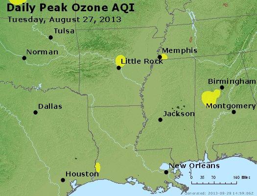 Peak Ozone (8-hour) - http://files.airnowtech.org/airnow/2013/20130827/peak_o3_ar_la_ms.jpg