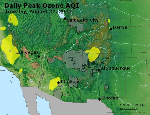 Peak Ozone (8-hour) - http://files.airnowtech.org/airnow/2013/20130827/peak_o3_co_ut_az_nm.jpg