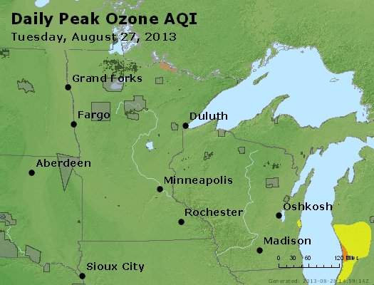 Peak Ozone (8-hour) - http://files.airnowtech.org/airnow/2013/20130827/peak_o3_mn_wi.jpg