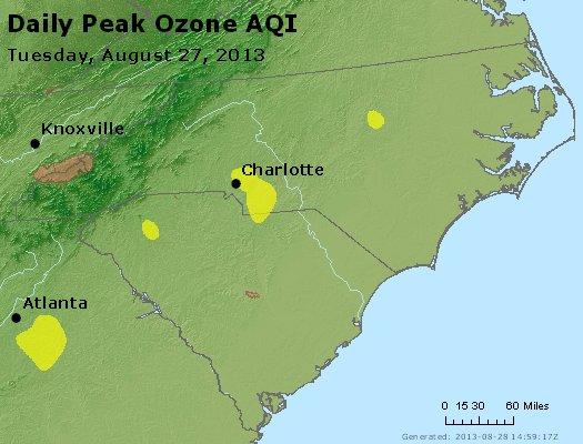 Peak Ozone (8-hour) - http://files.airnowtech.org/airnow/2013/20130827/peak_o3_nc_sc.jpg