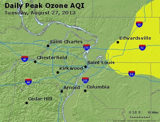 Peak Ozone (8-hour) - http://files.airnowtech.org/airnow/2013/20130827/peak_o3_stlouis_mo.jpg