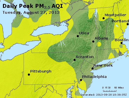 Peak Particles PM<sub>2.5</sub> (24-hour) - http://files.airnowtech.org/airnow/2013/20130827/peak_pm25_ny_pa_nj.jpg