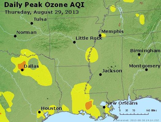 Peak Ozone (8-hour) - http://files.airnowtech.org/airnow/2013/20130829/peak_o3_ar_la_ms.jpg