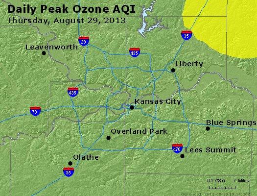 Peak Ozone (8-hour) - http://files.airnowtech.org/airnow/2013/20130829/peak_o3_kansascity_mo.jpg