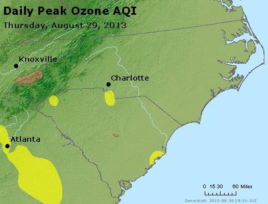 Peak Ozone (8-hour) - http://files.airnowtech.org/airnow/2013/20130829/peak_o3_nc_sc.jpg