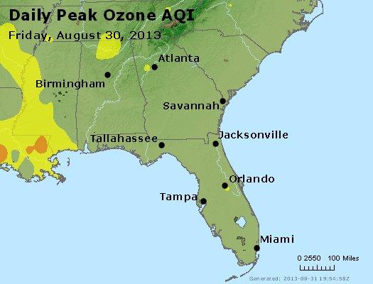 Peak Ozone (8-hour) - http://files.airnowtech.org/airnow/2013/20130830/peak_o3_al_ga_fl.jpg