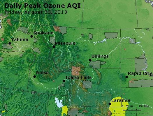 Peak Ozone (8-hour) - http://files.airnowtech.org/airnow/2013/20130830/peak_o3_mt_id_wy.jpg