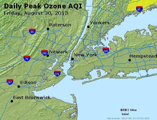 Peak Ozone (8-hour) - http://files.airnowtech.org/airnow/2013/20130830/peak_o3_newyork_ny.jpg