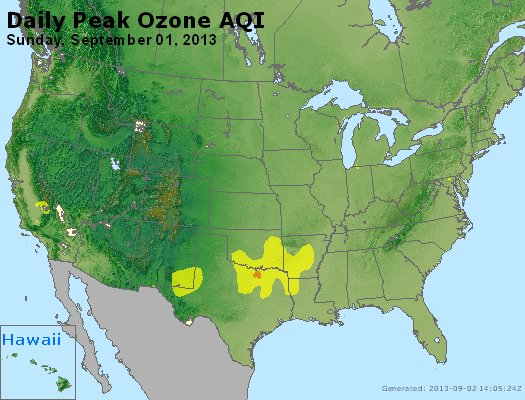 Peak Ozone (8-hour) - http://files.airnowtech.org/airnow/2013/20130901/peak_o3_usa.jpg