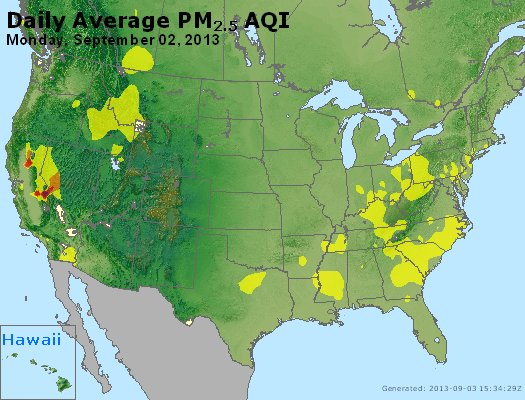 Peak Particles PM<sub>2.5</sub> (24-hour) - http://files.airnowtech.org/airnow/2013/20130902/peak_pm25_usa.jpg